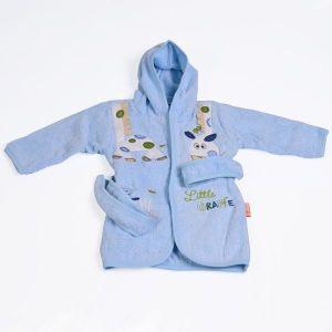 Детски халат Little Giraffe CANGAROO - син