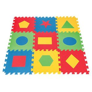 Детски мек килим с геометрични фигурки Pilsan