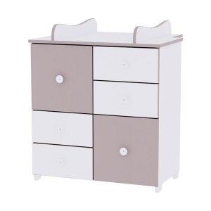 Шкаф за детска стая NEW LORELLI - бяло/капучино
