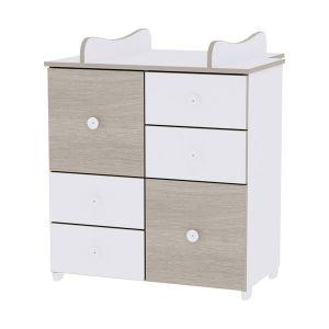 Шкаф за детска стая NEW LORELLI - бяло/кехлибар