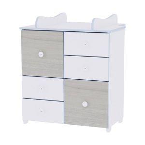 Шкаф за детска стая NEW LORELLI - бяло/син бряст