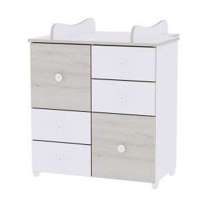 Шкаф за детска стая NEW LORELLI - бяло/светъл дъб