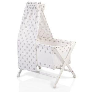 Детско дървено легло Cassy CANGAROO - бяло