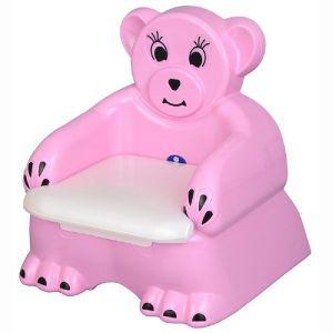 Детско гърне - столче Мече Pilsan - розово