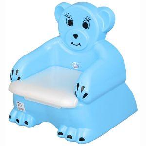 Детско гърне - столче Мече Pilsan - синьо