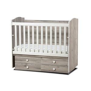 Детско легло Деси Dizain Baby - северен дъб / подвижна решетка