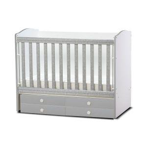 Детско легло Деси Dizain Baby - сиво / подвижна решетка