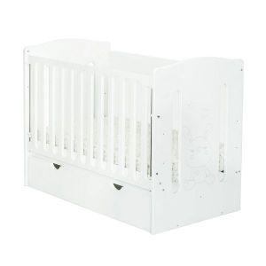 Детско легло Krista 60х120 - MDF NUBA - бяло