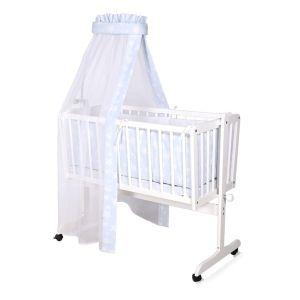 Детско легло - люлка Eva Lorelli - бяло
