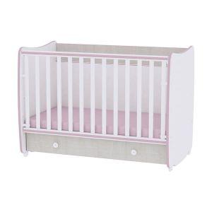 Детско легло Dream 60х120 Lorelli - розов crossline