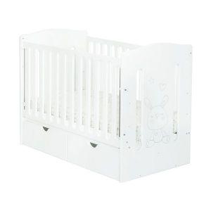 Детско легло Telma 60х120 - MDF NUBA - бяло