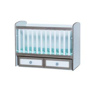 Детско легло Тони 70х140 - MDF Dizain Baby - бял + северен дъб