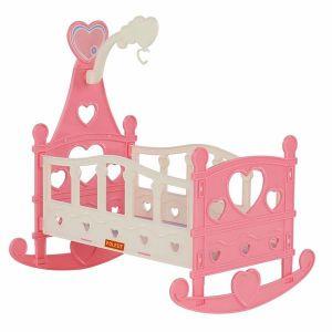 Легло за кукли Heart POLESIE TOYS - розово