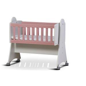 Детско легло Зори Dizain Baby - бяло + розов