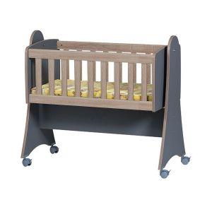 Детско легло Зори Dizain Baby - тъмно сив + дъб