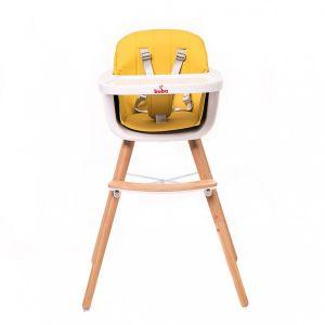 Столче за хранене Carino Buba - жълто