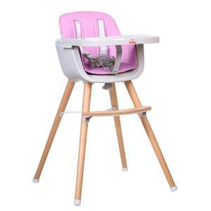 Столче за хранене Carino Buba - розово