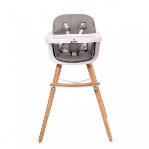 Столче за хранене Carino Buba - сиво
