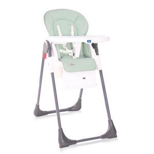 Детско столче за хранене CRYSPI LORELLI - Green LEATHER