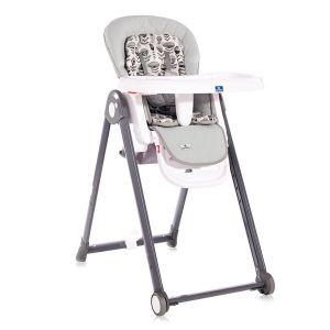 Столче за хранене PARTY LORELLI - Cool Grey LEATHER