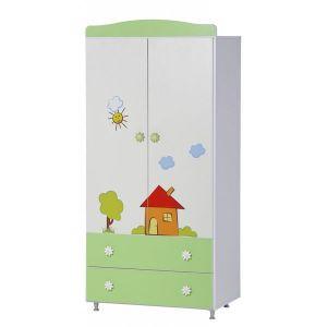 Гардероб Ливио Къща Dizain Baby - зелен