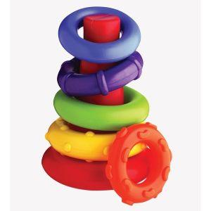 Играчка конус с цветни рингове PLAYGRO 9м+
