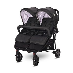 Детска количка за близнаци DUO LORELLI - Black DOTS