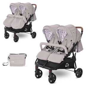 Детска количка за близнаци DUO LORELLI - Dark Grey LIGHTHOUSE