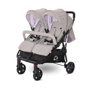 Детска количка за близнаци DUO LORELLI - Grey DOTS