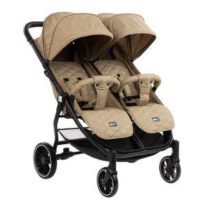 Бебешка количка за близнаци Happy 2 KIKKABOO - Beige