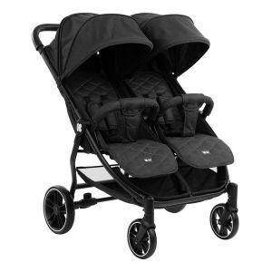 Бебешка количка за близнаци Happy 2 KIKKABOO - Black