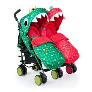 Бебешка количка за близнаци SUPA DUPA Dinomee and MO COSATTO