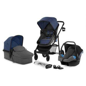 Комбинирана бебешка количка 3в1 JULI KINDERKRAFT - деним