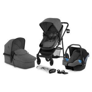 Комбинирана бебешка количка 3в1 JULI KINDERKRAFT - сива