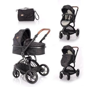 Детска комбинирана количка LUMINA LORELLI - Black