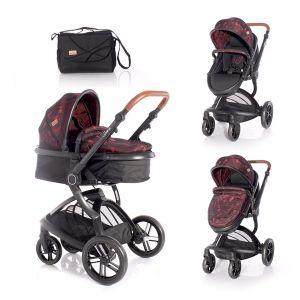 Детска комбинирана количка LUMINA LORELLI - Red