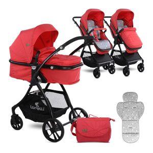 Детска комбинирана количка STARLIGHT LORELLI - Red