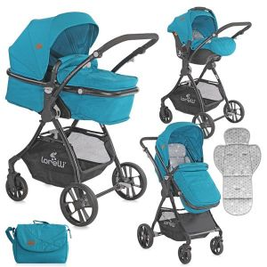 Бебешка комбинирана количка STARLIGHT SET LORELLI - Dark Blue