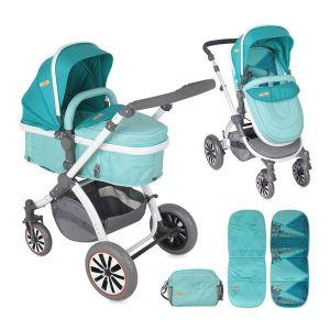 Комбинирана детска количка AURORA Lorelli - Aquamarine London