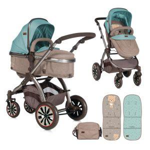 Комбинирана детска количка AURORA Lorelli - Beige&Green Bear
