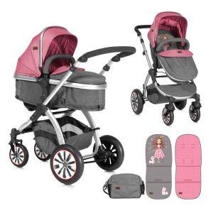 Комбинирана детска количка AURORA Lorelli - Rose&Grey Princess