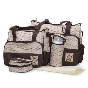 Комплект чанти за аксесоари Stella MONI - кафяв
