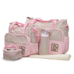 Комплект чанти за аксесоари Stella MONI - розов