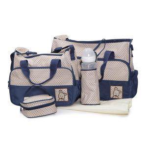 Комплект чанти за аксесоари Stella MONI - син
