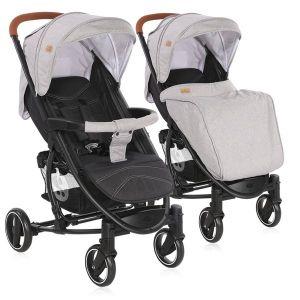 Детска количка S-300 LORELLI - Grey&Black