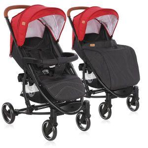 Детска количка S-300 LORELLI - Red&Black