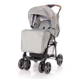 Детска лятна количка с покривало INES LORELLI - Dark Grey LIGHTHOUSE