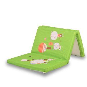 Детски сгъваем матрак за кошара MONI - зелен