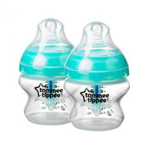Шише за хранене ANTI-COLIC+ 150ml. 0м+ Tommee Tippee - 2 бр./опак.