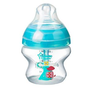 Шише за хранене ANTI-COLIC+ 150ml. 0м+ Tommee Tippee с декорация